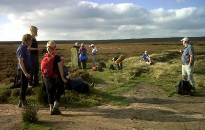 Meeting at the Boubdary stone on Rombals Moor
