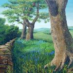 """Oaks and Bluebelss nr Flasby"" - Dales High Way Art Project, David Starley"