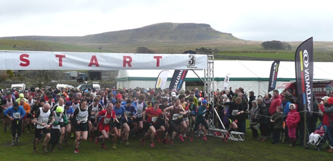 The start of the 2013 Three Peaks Fell Race