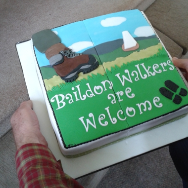 Baildon Walkers Are Welocme cake