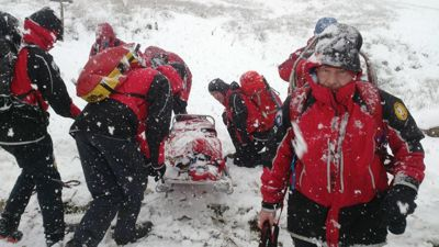 CRO rescue on Penyghent, November 2016