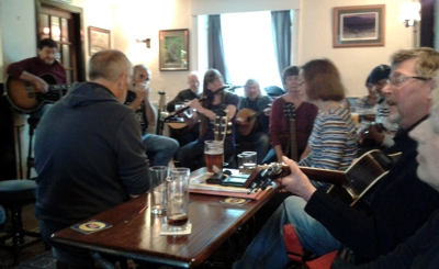 Mussic sessions at the Crown Inn, Horton-in-Ribblesdale
