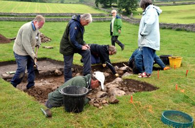 Dr David Johnson oversees the Malham Chaple Dig