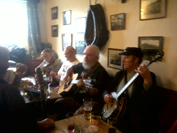 Impromptu session at the Sun Inn, Dentdale Music and Beer Festival 2011