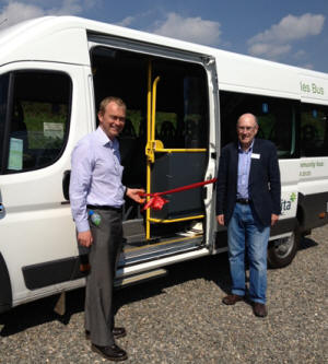 The new Western Dales Bus service is launched