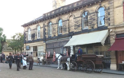 The English Game filmed in Saltaire