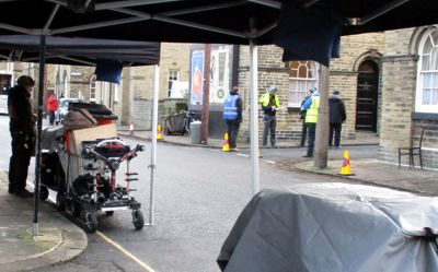 Filming of Funny Girl in Saltaire