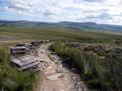 Path repairs on Ingleborough approach