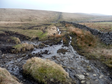Erosion on Pennine Way above Birkwith