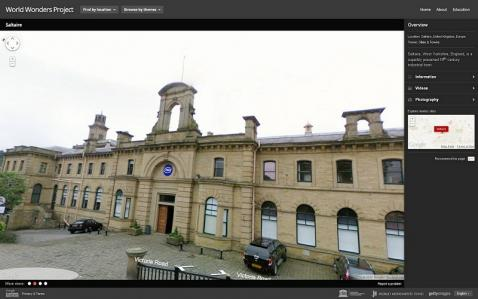 Saltaire on Google's World Wonders