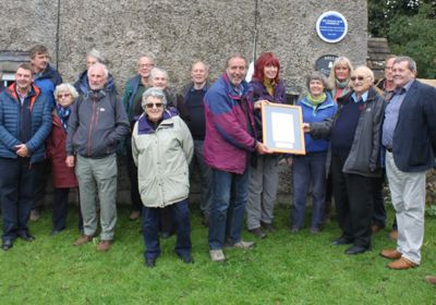 Stalling Busk plaque unveiled