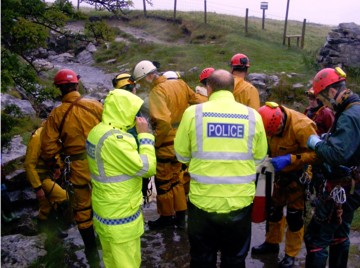 Rescue operation at Long Churn Cave, Aug 10 2011