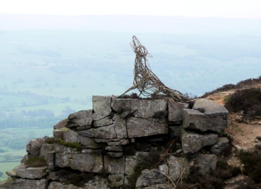 The Hound of Windgate Nick, Addingham High Moor, in May 2011 showing signs of wear
