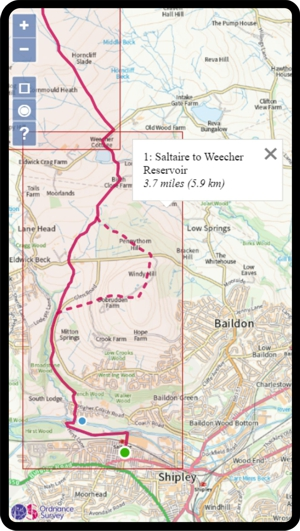 Dales High Way Route map and features