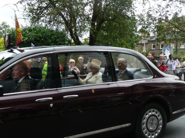 The Queen in Saltaire