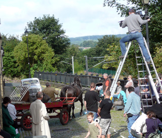 Filming of ITV's The Royal at Saltaire