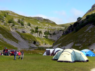 Camping at Gordale Scar