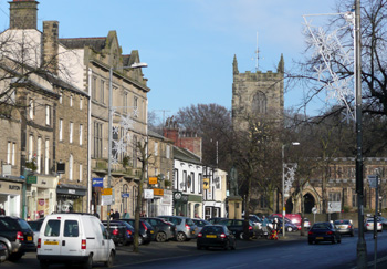 Skipton High Street on a quiet day