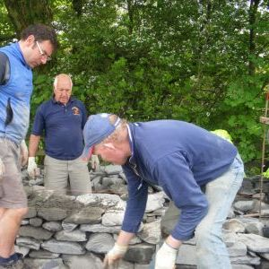 Dry stone wallers in action