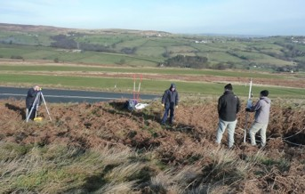 Volunteers survey on Baildon Moor