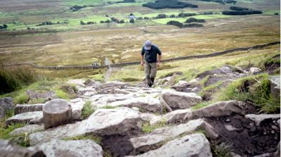 Eroded path on Whernside