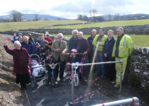 The new cycleway was opened on March 10 2012